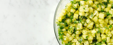Pineapple Salsa with Spiced Tortilla Chips Recipe