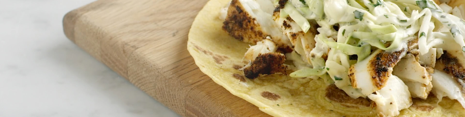 Grilled Halibut Tacos with Cabbage Slaw Recipe