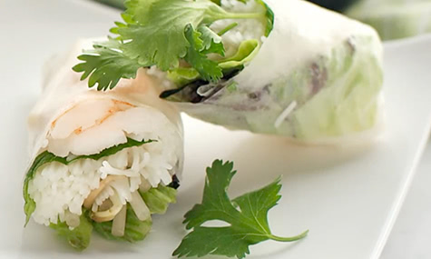 Vietnamese Shrimp-and-Herb Spring Rolls Recipe